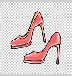 fashionable pink stilletos isolated vector image