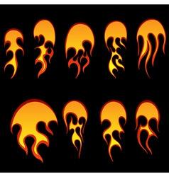 fireballs vector image