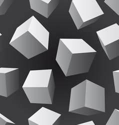 floating cubes seamless pattern vector image