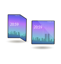 foldable phone smartphone with a flexible screen vector image