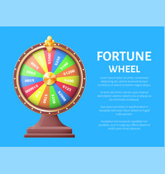 Fortune wheel poster place for text full length vector