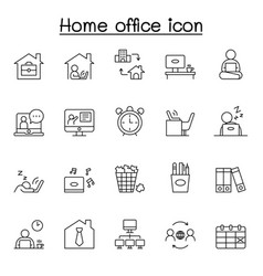 freelance and work at home icons set collection vector image