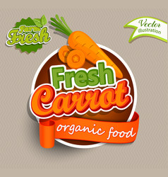 Fresh carrot logo vector