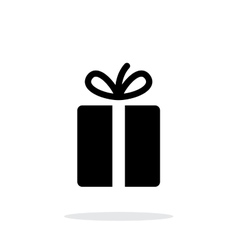 Gift icons on white background vector image