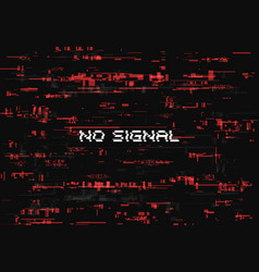 glitch effect no signal page abstract background vector image