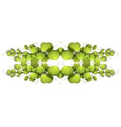 Green leafy plants vector