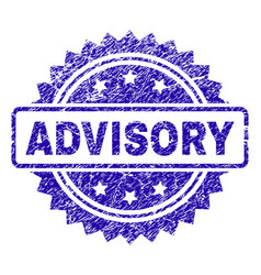 Grunge advisory stamp seal vector