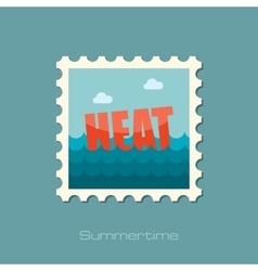 Heat flat stamp vector