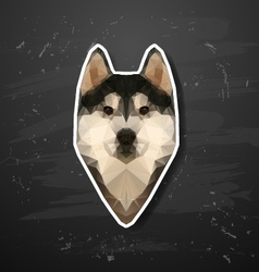 Husky polygon abstract triangle vector image