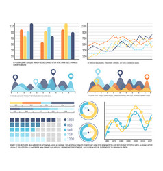 infographic schemes and pie diagrams with numbers vector image