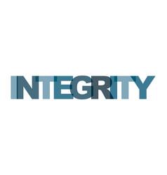 Integrity management business card text modern vector