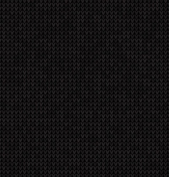Knitted black seamless background Flat Style vector image