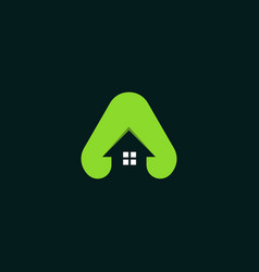 letter a home roofing creative business logo vector image