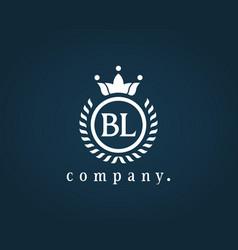 Letter bl b l luxury royal monogram logo design vector