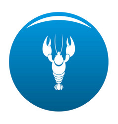 lobster icon blue vector image