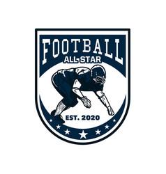 Logo design football all star est 2020 vector
