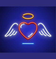 love heart with winglets vector image