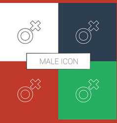 Male icon white background vector