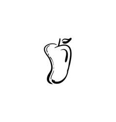 mango doodle vector image