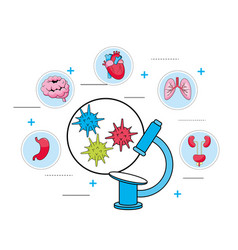 Microscope virus diagnosis and medical treatment vector