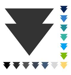 Move down icon vector