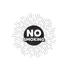 No smoking banner stop smoke sign vector