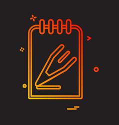 notepad icon design vector image