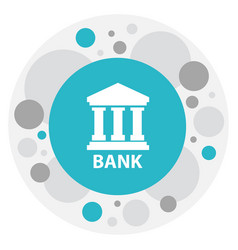of banking symbol on vector image