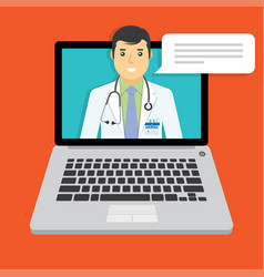 online doctor medical consultation vector image