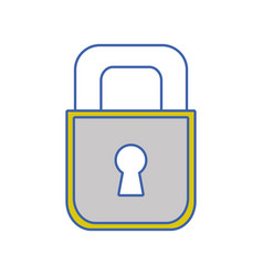Padlock object to security and protection symbol vector