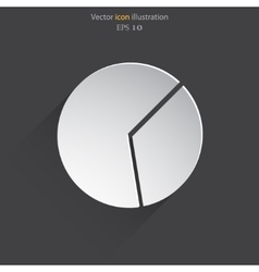 pie chart web icon vector image