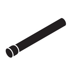 pipe iconblack icon isolated vector image