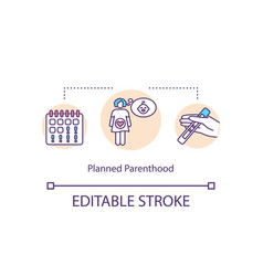 Planned parenthood concept icon vector