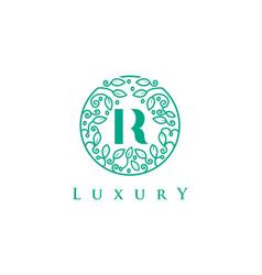 R letter logo luxurybeauty cosmetics logo vector
