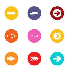 Reversal icons set flat style vector
