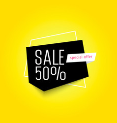 sale up to 50 off geometric banner vector image