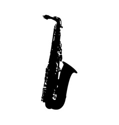 saxophone silhouette vector image