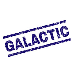 Scratched textured galactic stamp seal vector