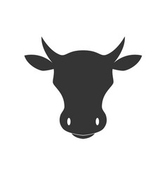 silhouette cow head design element for poster vector image