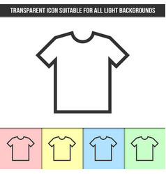 simple outline transparent t-shirt icon on vector image