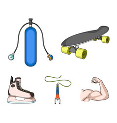 skateboard oxygen tank for diving jumping vector image