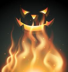 Smiling halloween ghost vector