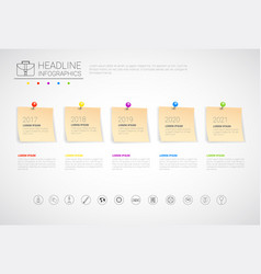 Sticker set headline infographic business vector