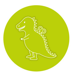 T-rex toy isolated icon vector