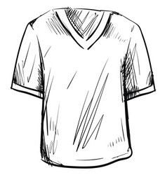 t shirt drawing on white background vector image
