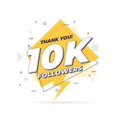 Thank you 10000 followers trendy flat geometric vector