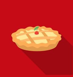 Thanksgiving pie icon in flate style isolated on vector