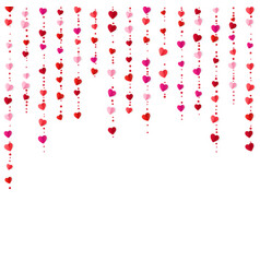 vertical colorful heart garlands valentines day vector image