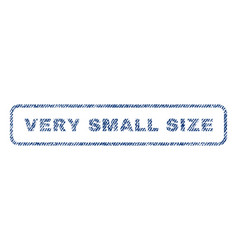 Very small size textile stamp vector