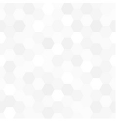 White and gray hexagon mosaic texture vector